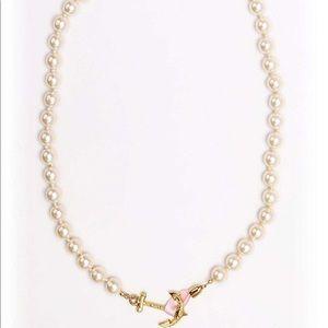 Kiel James Patrick pearl anchor necklace